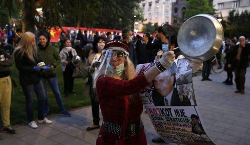 Protest ispred predsedništva, pokušaj ulaska u zgradu (VIDEO) 9