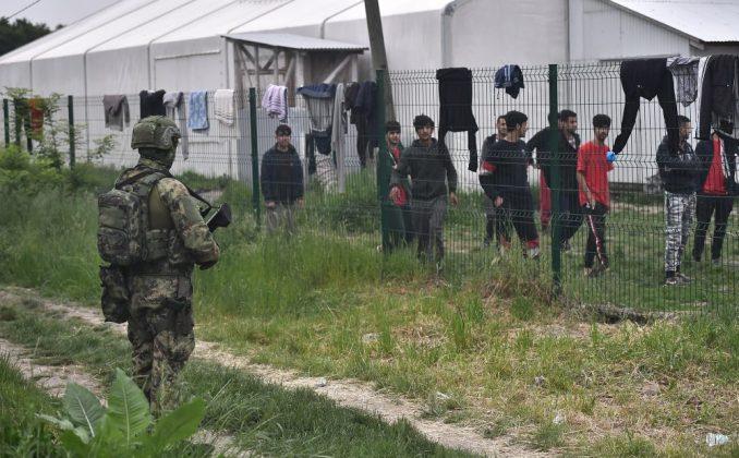 Vojska Srbije u migrantskim kampovima u Šidu (FOTO) 1