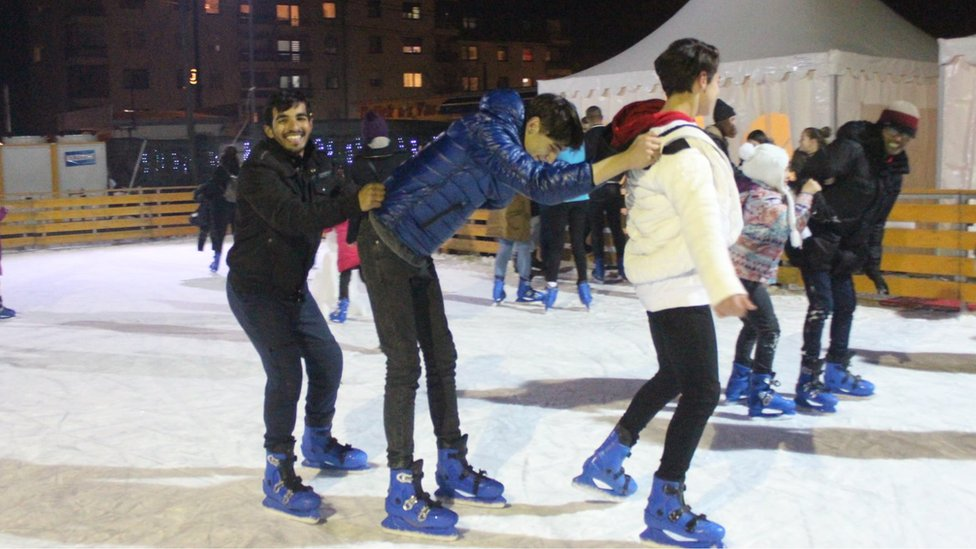 Migranti na Zimskom festivalu