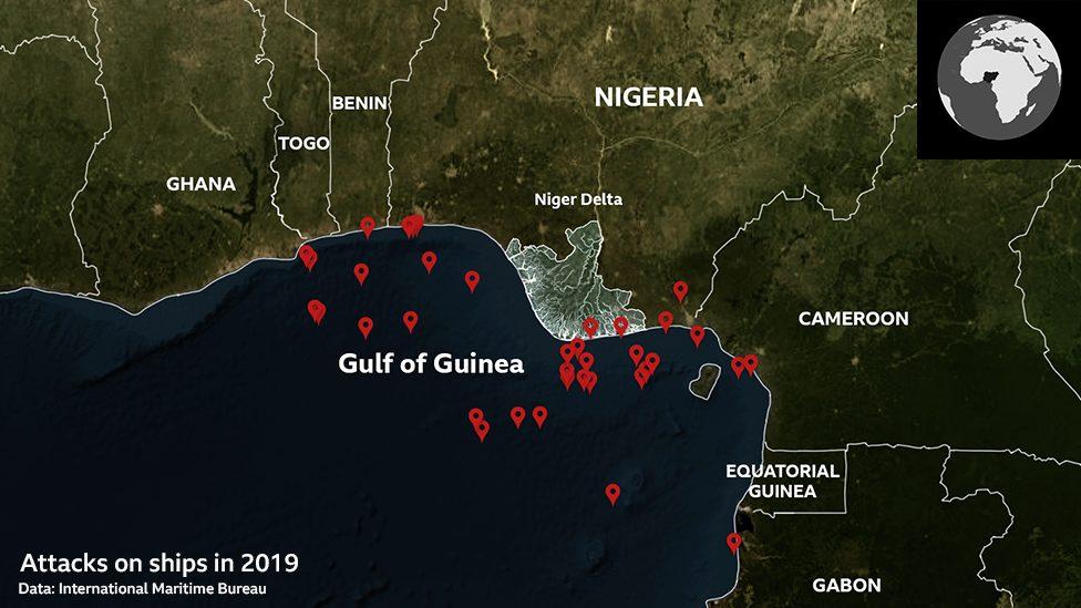 Mapa gusarskih napada
