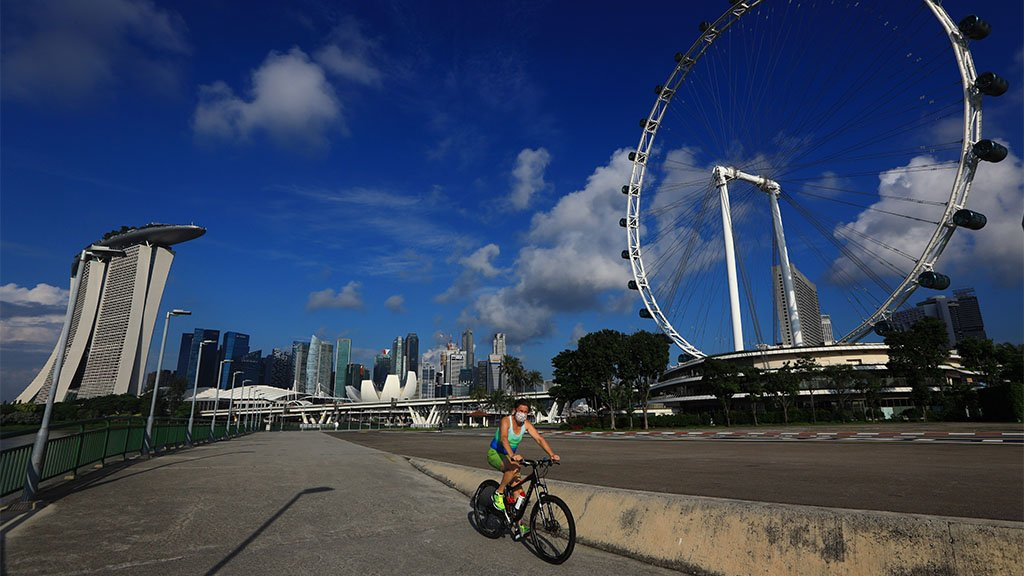Cyclist in Singapore