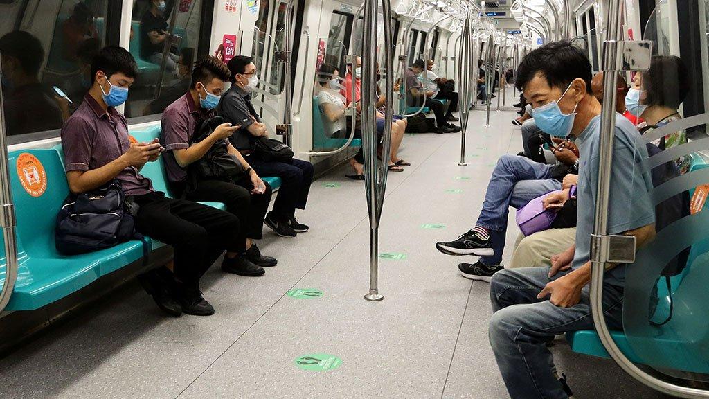 People on Singapore underground