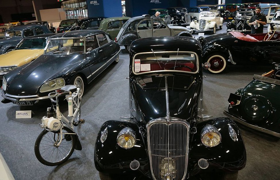 Trigano's collection of vintage Citroens at auction in 2016