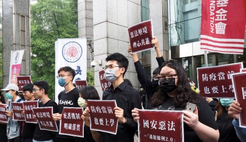 Demonstranti iz Hongkonga na Tajvanu 11