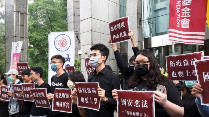 Demonstranti iz Hongkonga na Tajvanu 1