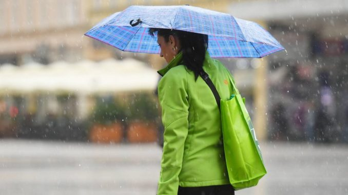 Danas obilne padavine, sutra oblačno i toplo 4