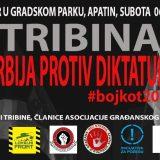 """UG """"Bez straha"""" organizuje tribinu """"Srbija protiv diktature - Bojkot"""" 6. juna u Apatinu 10"""