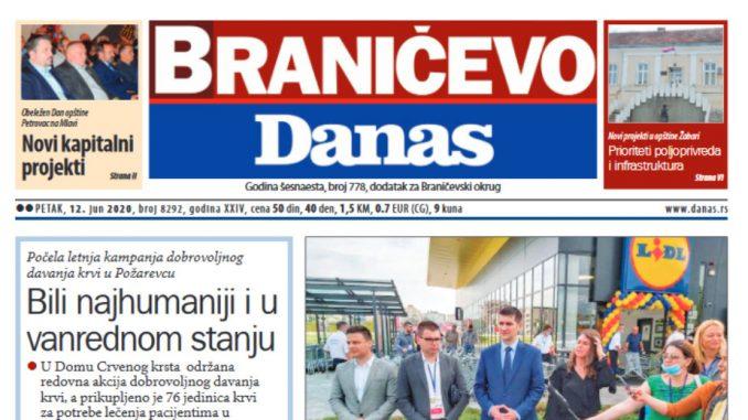 Braničevo Danas - 12. juna 2020. (PDF) 1
