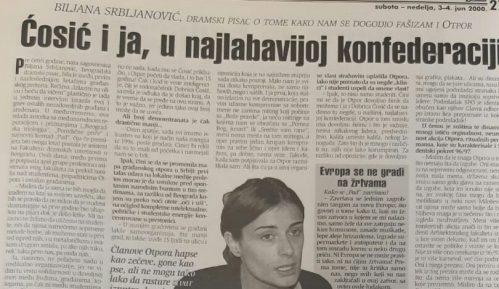 Zašto se pre 20 godina Biljana Srbljanović pridružila Otporu? 6