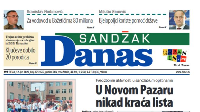 Sandžak Danas - 12. jun 2020. (PDF) 1