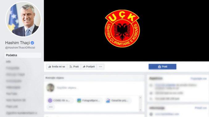 Nakon predloga optužnice za ratne zločine Tači postavio grb OVK na Fejsbuk 3