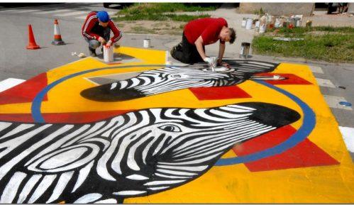 Još jedna galerija na asfaltu osvanula u Zemunu 11