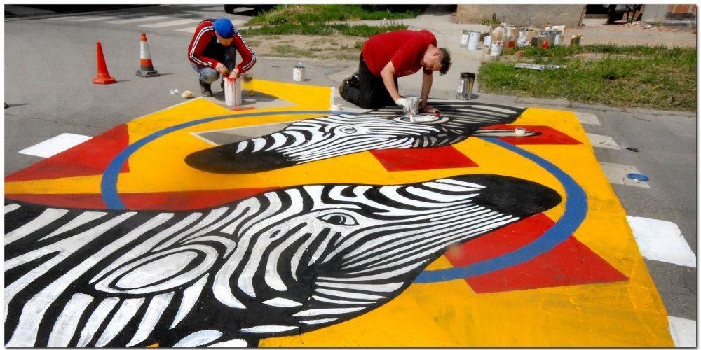 Još jedna galerija na asfaltu osvanula u Zemunu 1