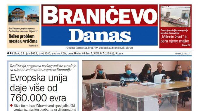 Braničevo Danas - 26. jun 2020. (PDF) 1