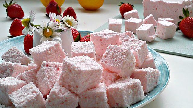 Recept nedelje: Penaste bombone sa jagodama (marshmallow) 4