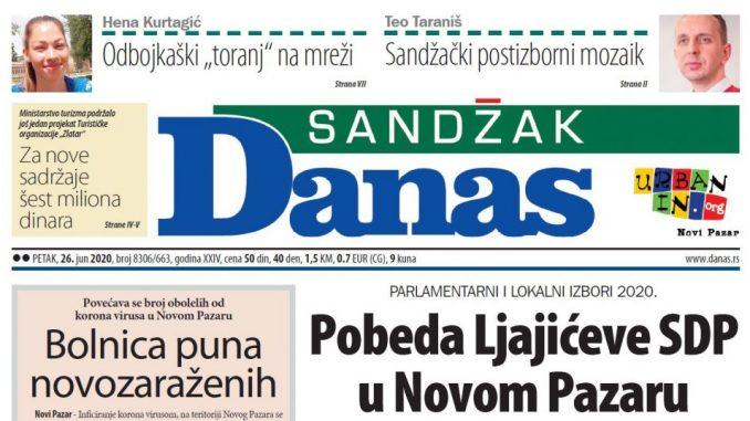 Sandžak Danas - 26. jun 2020. (PDF) 1