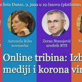 """Online tribina """"Izbori, mediji i korona"""" 9. juna 11"""