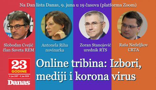 """Online tribina """"Izbori, mediji i korona"""" 9. juna 9"""