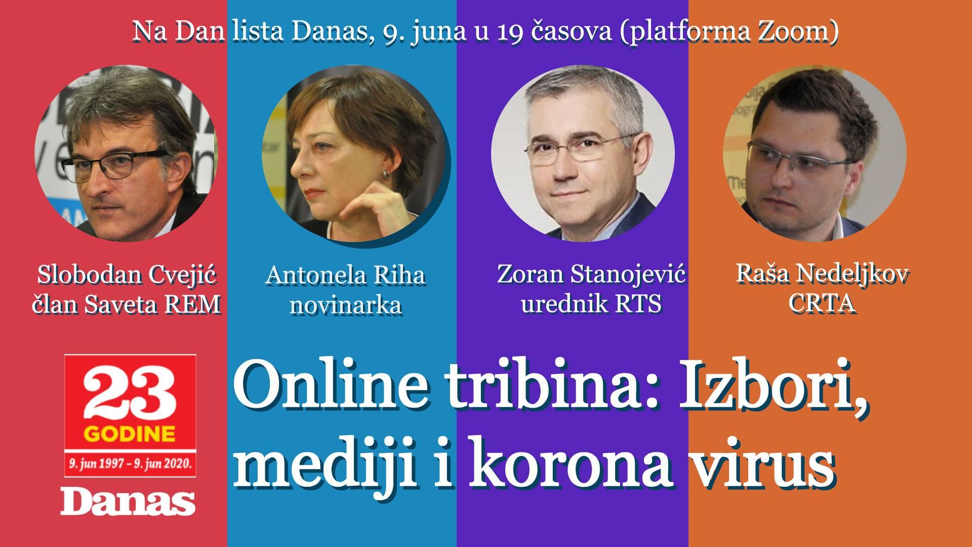 """Online tribina """"Izbori, mediji i korona"""" 9. juna 1"""