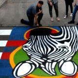 Još jedna đačka zebra osvanula u Zemunu 15