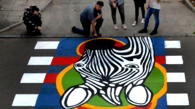 Još jedna đačka zebra osvanula u Zemunu 2