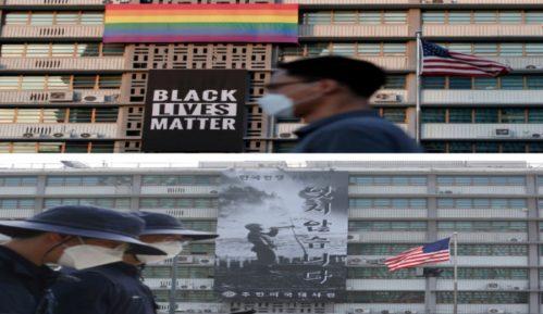 Transparent BLM uklonjen sa zgrade američke ambasade u Seulu 4