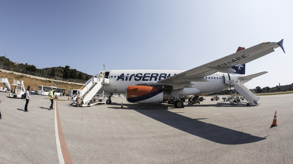Kako je izgledao prvi promotivni let Er Srbije iz Beograda na Skijatos 2