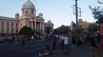 Na petom protestu manje okupljenih nego prethodnih dana (FOTO, VIDEO) 26