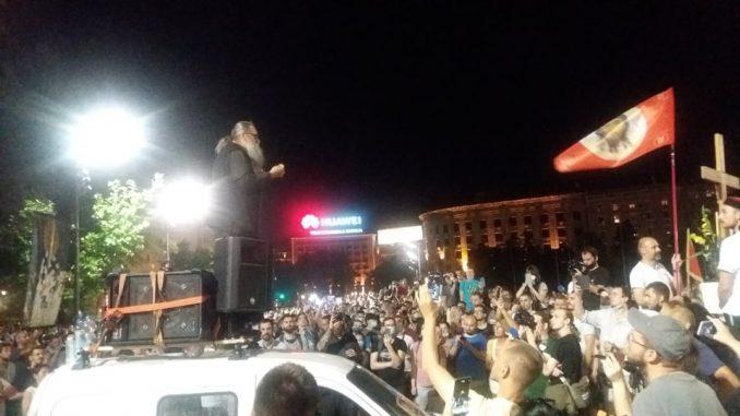 Na petom protestu manje okupljenih nego prethodnih dana (FOTO, VIDEO) 1