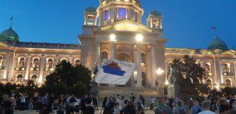 Na petom protestu manje okupljenih nego prethodnih dana (FOTO, VIDEO) 15