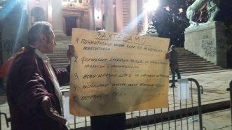 Šesti protest u Beogradu bez incidenata, uz učešće oko 1.000 ljudi (FOTO/VIDEO) 19