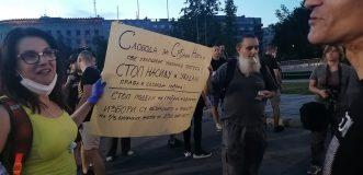 Na petom protestu manje okupljenih nego prethodnih dana (FOTO, VIDEO) 14