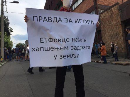 Protest ispred CZ-a održan drugi dan zaredom (FOTO, VIDEO) 2