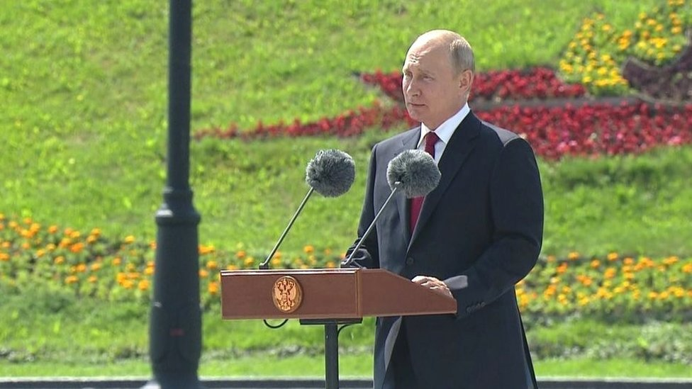 Vladimir Putin in Moscow, 12 June