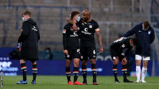 St Pauli players after a recent match