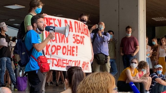 Korona virus: Protesti studenata zbog novih mera Vlade Srbije, Merkel traži brz plan za oporavak EU 3