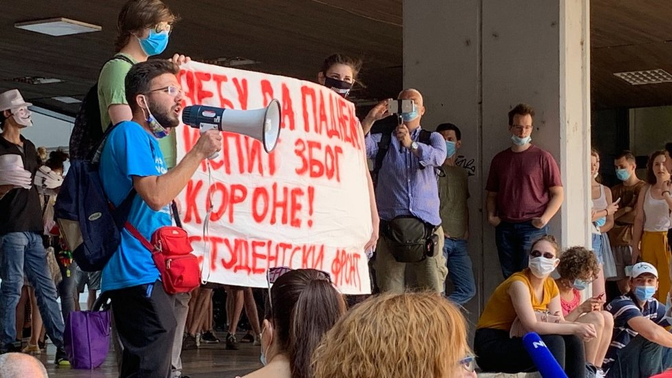 Studenti su održali protest u petak ujutru u centru Beograda