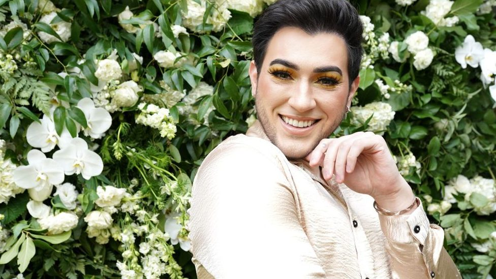 Close up of make-up artist and YouTuber Manny Gutierrez