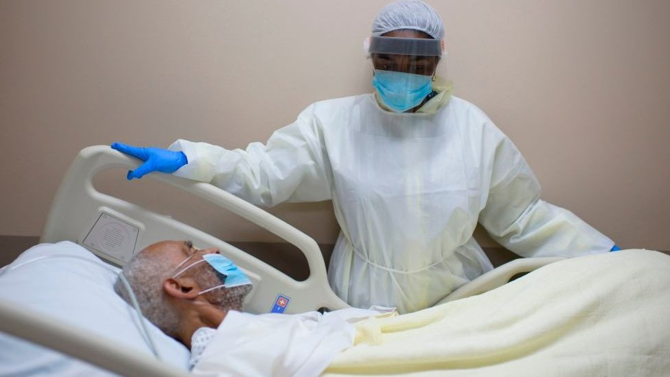A patient and doctor in Texas