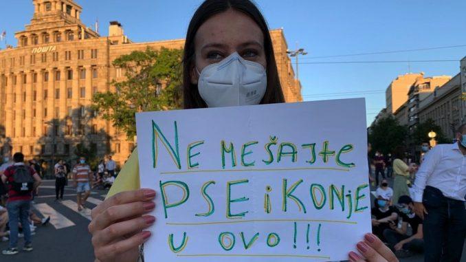 """Protest u Beogradu i """"uginuli psi"""": Šta se zaista desilo sa službenim psima na protestu 3"""