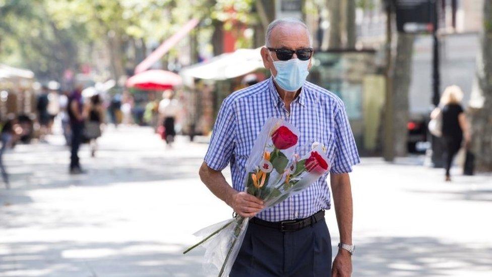 Man in Barcelona