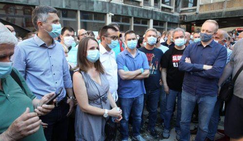 SZS: Jučerašnji protest bio miran, režim režira nasilje 13