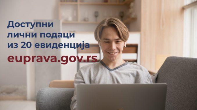 Na portalu eUprava dostupni podaci iz 20 evidencija i registara 2