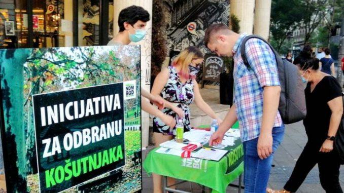 Ne davimo Beograd: Više od 70.000 potpisa za odbranu Košutnjaka 4