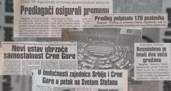 Zbog promene ustava SRJ crnogorski političari pozivali na nezavisnost 3