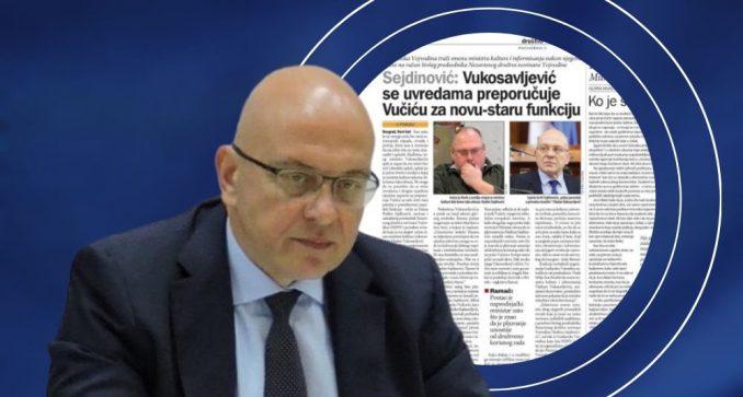 Reakcija Vukosavljevića na tekst u Danasu: Habitat za hor 2