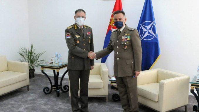 Sastali se načelnik Generalštaba Vojske Srbije i novi šef Kancelarije NATO u Beogradu 2