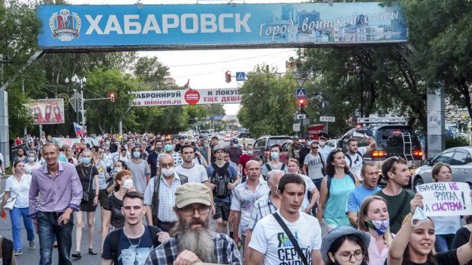 Građani ruskog grada Habarovska protestuju, traže odlazak novog guvernera 3