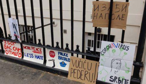 Protest dijaspore ispred sedišta UN, u Londonu i Luksemburgu 2