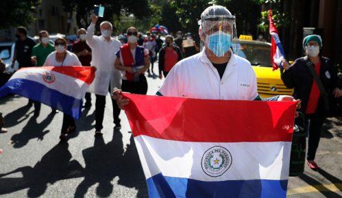 Protest protiv karantina u paragvajskom gradu kod granice sa Brazilom 1